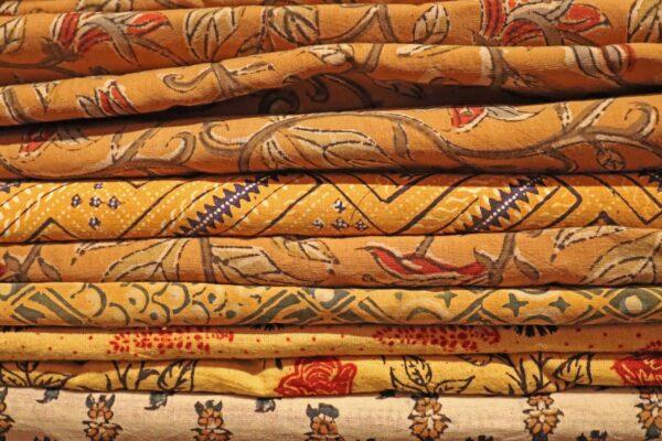klein- coupons handbedrukte Indiase stof - kopie